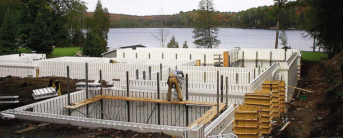 Nice foam block homes 10 fox blocks ny seaway wall for Icf houses for sale